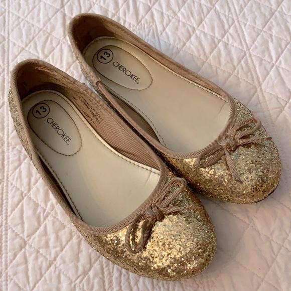 Cherokee Sparkle Glitter Bow Ballet Flat